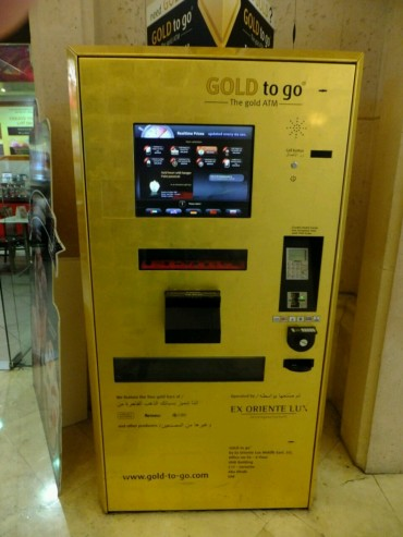 Gold kann man am Automaten kaufen
