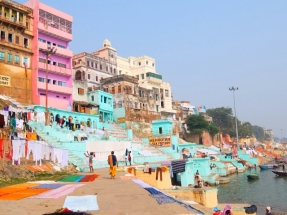 Waschplatz am Ganga